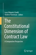 The Constitutional Dimension of Contract Law: A Comparative Perspective by Luca Siliquini-Cinelli