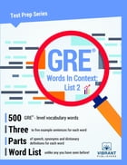 GRE Words In Context: List 2 by Vibrant Publishers