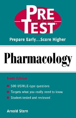 Book Pharmacology: PreTest Self-Assessment and Review by Stern, Arnold