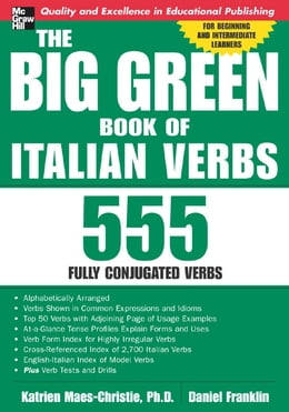 Book The Big Green Book of Italian Verbs by Katrien Maes-Christie
