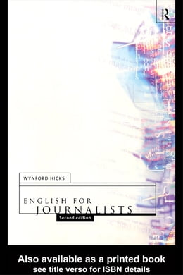 Book English for Journalists by Hicks, Wynford