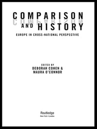 Comparison and History: Europe in Cross-National Perspective