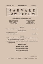 Harvard Law Review: Volume 129, Number 2 - December 2015 by Harvard Law Review