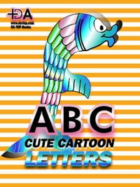 ABC: Cute Cartoon Letters - Spring Mother's Day Gift Idea