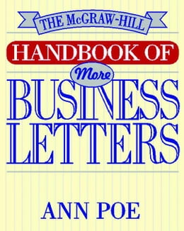 Book The McGraw-Hill Handbook of More Business Letters by Poe, Ann