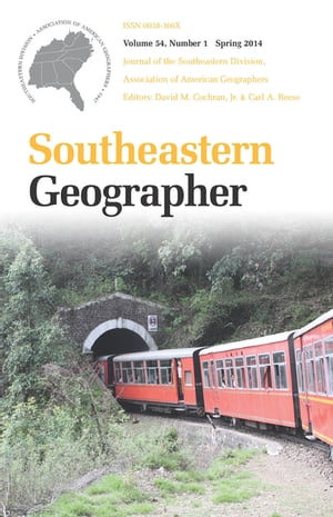 Southeastern Geographer Spring 2014 Issue