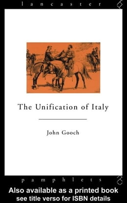 Book The Unification of Italy by Gooch, John