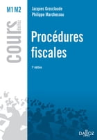 Procédures fiscales by Jacques Grosclaude