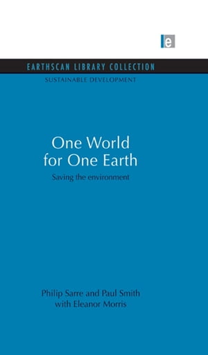 One World for One Earth Saving the environment