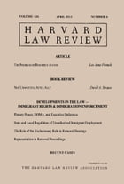Harvard Law Review: Volume 126, Number 6 - April 2013 by Harvard Law Review