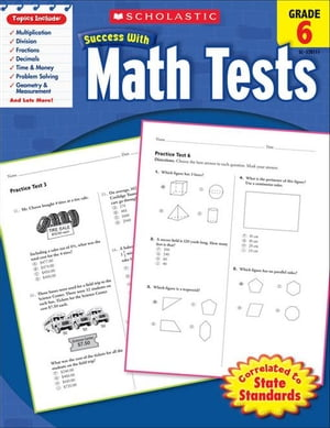 Scholastic Success with Math Tests (Grade 6)