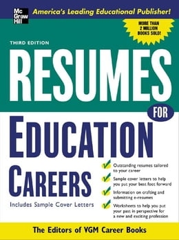 Book Resumes for Education Careers by VGM, Editors of