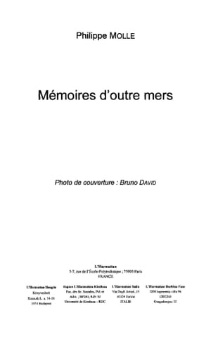 Mémoires d'outre mers by Philippe Molle