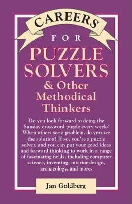 Book Careers for Puzzle Solvers & Other Methodical Thinkers by Goldberg, Jan