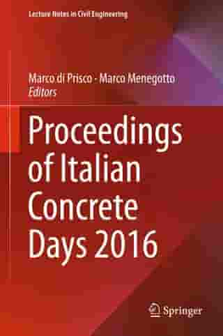 Proceedings of Italian Concrete Days 2016