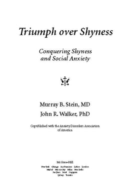 Book Triumph Over Shyness: Conquering Shyness & Social Anxiety by Stein, Murray