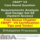 CBAP V3 Case Study Based Question – Requirement, Analysis & Design-SET 02 by LN Mishra