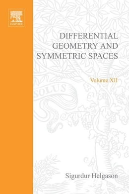 Book Differential geometry and symmetric spaces by Helgason, Sigurdur
