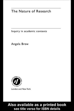 Book The Nature of Research by Brew, Angela