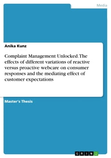 Complaint Management Unlocked. The effects of different variations of reactive versus proactive…