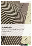 Business Continuity Management bei Pandemien by Jan-Hendrik Boerse