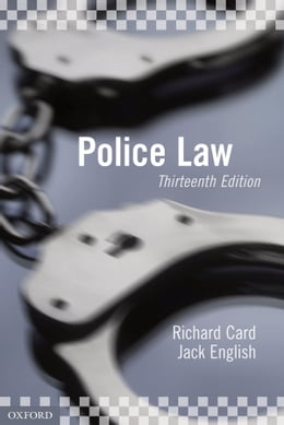 Book Police Law by Richard Card