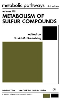 Book Metabolism of Sulfur Compounds by Greenberg, David