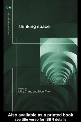 Book Thinking Space by Crang, Mike