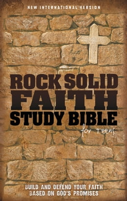 Book NIV, Rock Solid Faith Study Bible for Teens: Build and defend your faith based on God's promises… by ZonderKidz