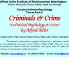 "Classical Adlerian Psychology Theme Pack 6: Criminals & Crim: ""Individual Psychology & Crime,"" by…"