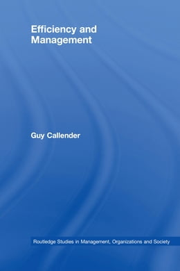Book Efficiency and Management by Callender, Guy