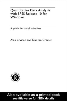 Book Quantitative Data Analysis with SPSS Release 10 for Windows by Bryman, Alan