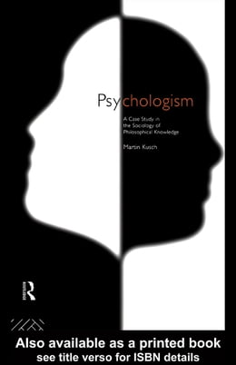 Book Psychologism by Kusch, Martin