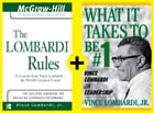Lombardi: Rules and Lessons on What It Takes to Be #1 by Vince Lombardi