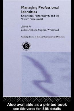 Book Managing Professional Identities by Whitehead, Stephen