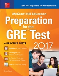 McGraw-Hill Education Preparation for the GRE Test 2017