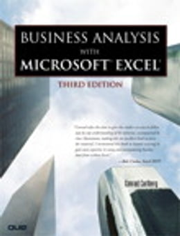Book Business Analysis with Microsoft Excel by Conrad Carlberg