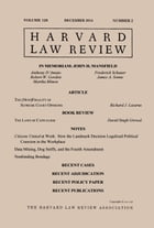 Harvard Law Review: Volume 128, Number 2 - December 2014 by Harvard Law Review