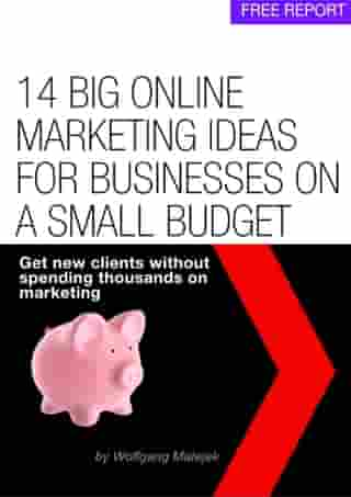 14 Big Online Marketing Ideas For Small Businesses On A Small Budget by Wolfgang Matejek