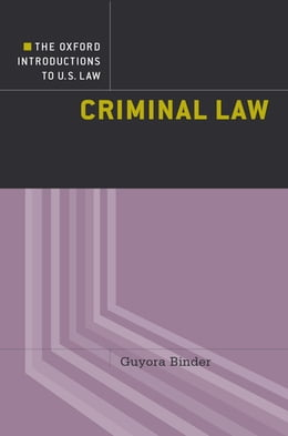 Book Criminal Law by Guyora Binder