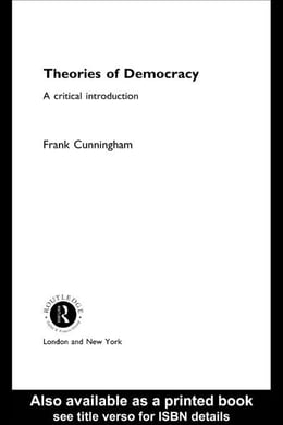 Book Theories of Democracy by Cunningham, Frank