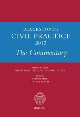 Book Blackstone's Civil Practice 2013: The Commentary by Prof Stuart Sime