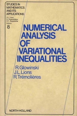 Book Numerical Analysis of Variational Inequalities by Trémolières, R.