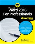 Word 2016 For Professionals For Dummies Deal