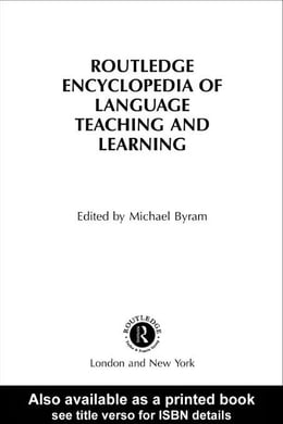 Book The Routledge Encyclopedia of Language Teaching and Learning by Byram, Michael