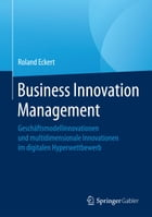 Business Innovation Management: Geschäftsmodellinnovationen und multidimensionale Innovationen im digitalen Hyperwettbewerb by Roland Eckert