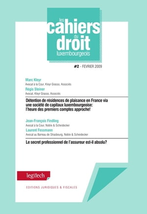 Cahier du droit luxembourgeois n°2 by Marc Kleyr