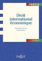 Droit international économique by Dominique Carreau