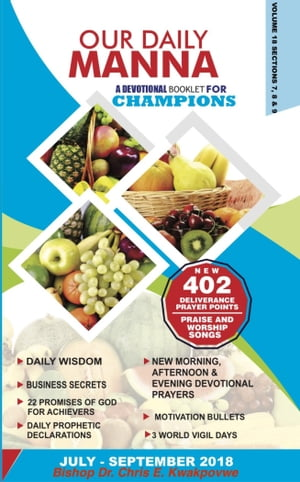 Our Daily Manna – A Devotional Booklet For Champions: July – September 2018