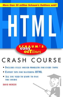 Book Schaum's Easy Outline of HTML by Mercer, David